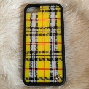 yellow checkered wildflower case